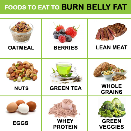 What to eat to burn belly fat hot